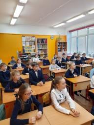 Встреча учеников 4-х классов с Валентиной Николаевной Комковой