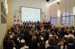 Фестиваль классных хоров «Весенние голоса», посвященный 100-летию школы.1-4-е классы
