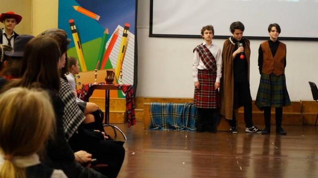 Традиционный праздник, посвященный творчеству Роберта Бернса. 7-8 классы