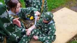 Участие в районной оборонно-спортивной игре «Зарница»